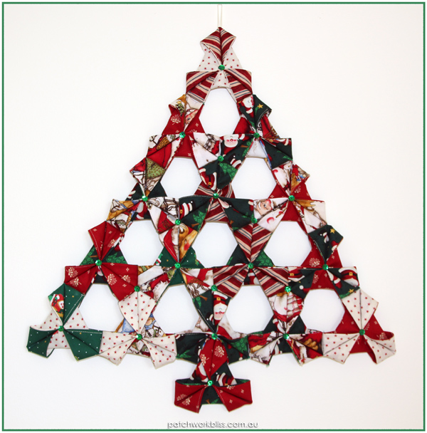 Folded Christmas Tree Wall Hanging Patchwork Bliss
